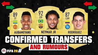 FIFA 20 | SUMMER CONFIRMED TRANSFERS & RUMOURS! 😱🔥| FT. NEYMAR JR, AUBAMEYANG, RODRIGUEZ... etc