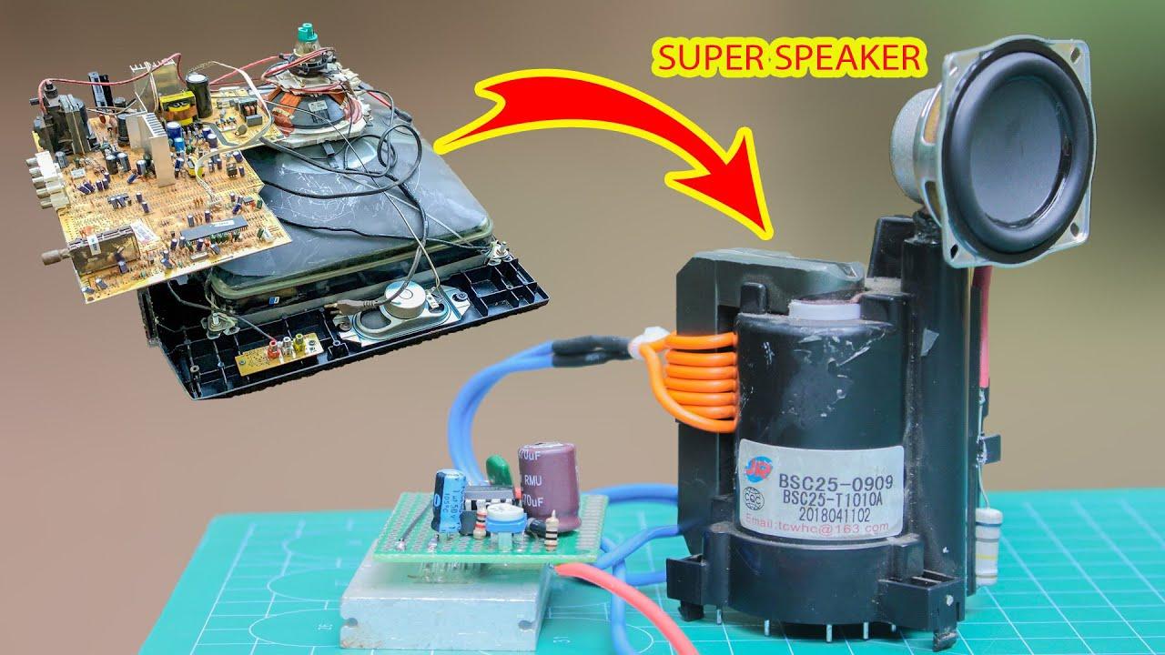 TV Hỏng ! Đừng Vứt đi, Biến nó Thành Cái này Rất Hay   Broken TV Turned Into Super Speakers