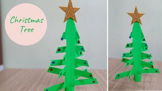 Paper Christmas Tree - Very Easy | How to make X-Mas Tree #Shorts