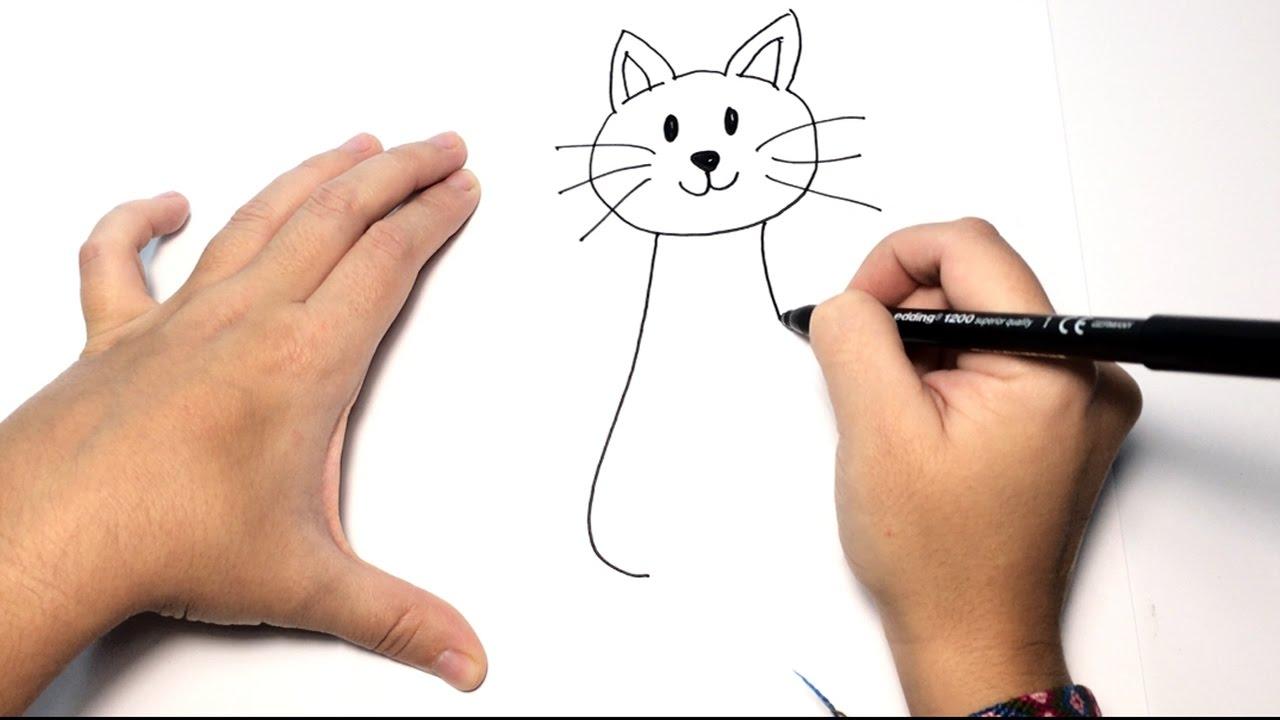 Como Dibujar Un Gato Paso A Paso Dibujos Faciles De Animales Para