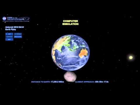 15.02.2013 - Asteroid 2012 DA14 - NASA Live - YouTube