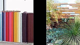 Kreative Garten Zaun Design Ideen -- ein Highlight im Garten setzen