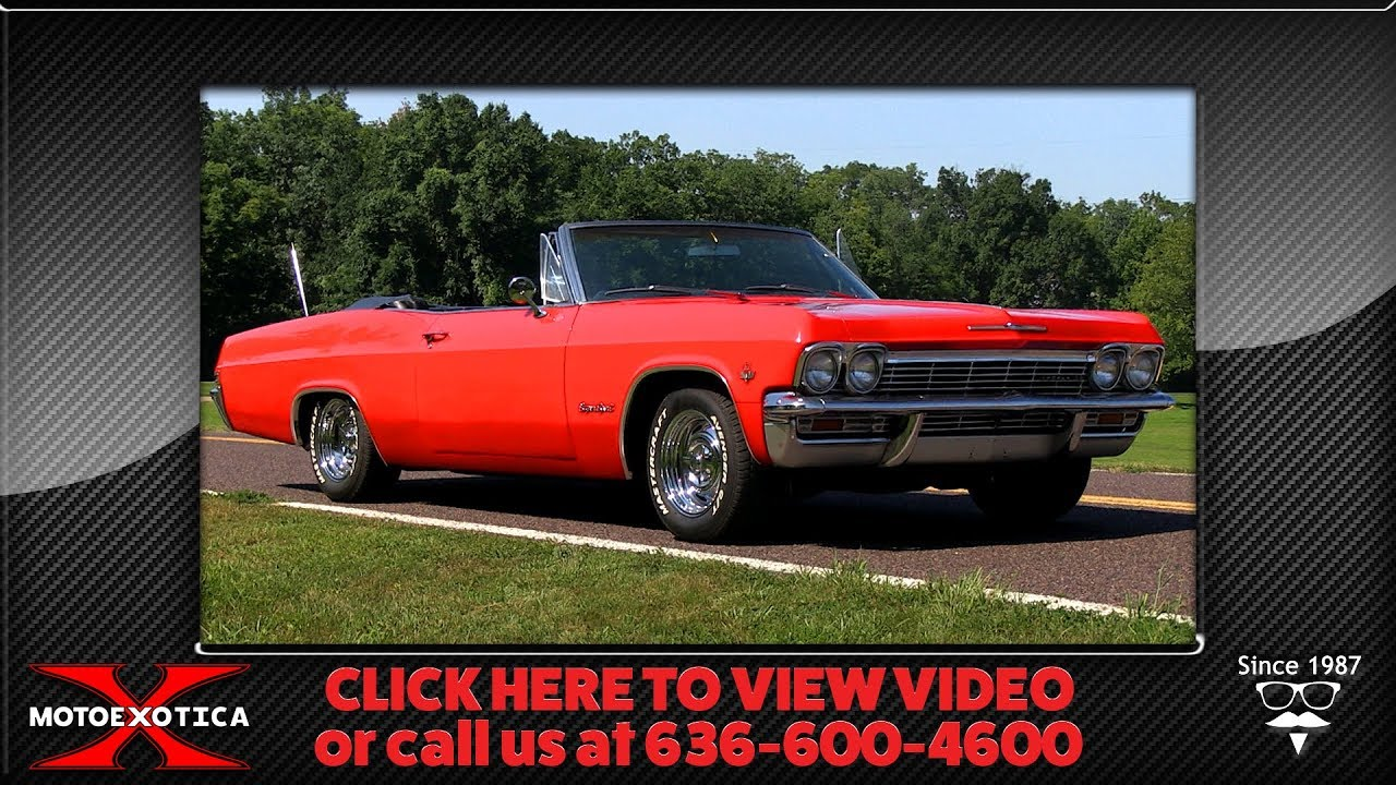 1965 Chevrolet Impala SS Convertible | MotoeXotica Classic