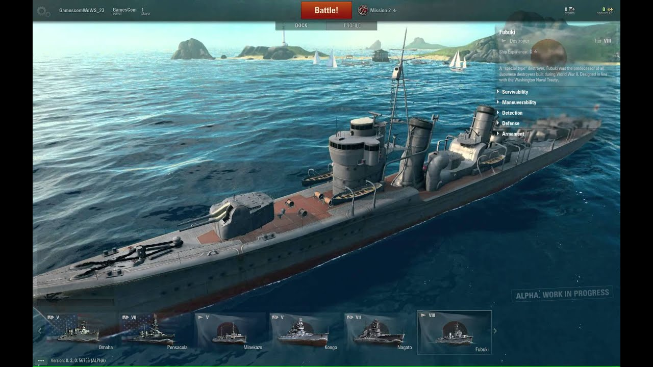World Of Warships In Game Footage Youtube