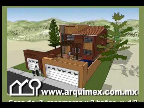 Planos de casas modelo san leoncio 138 arquimex planos de Modelo de viviendas para construir