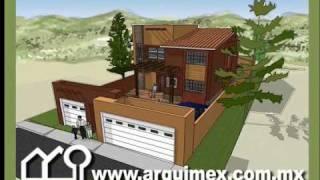 Repeat youtube video Planos de Casas Modelo San Leoncio #138 Arquimex Planos de Casas