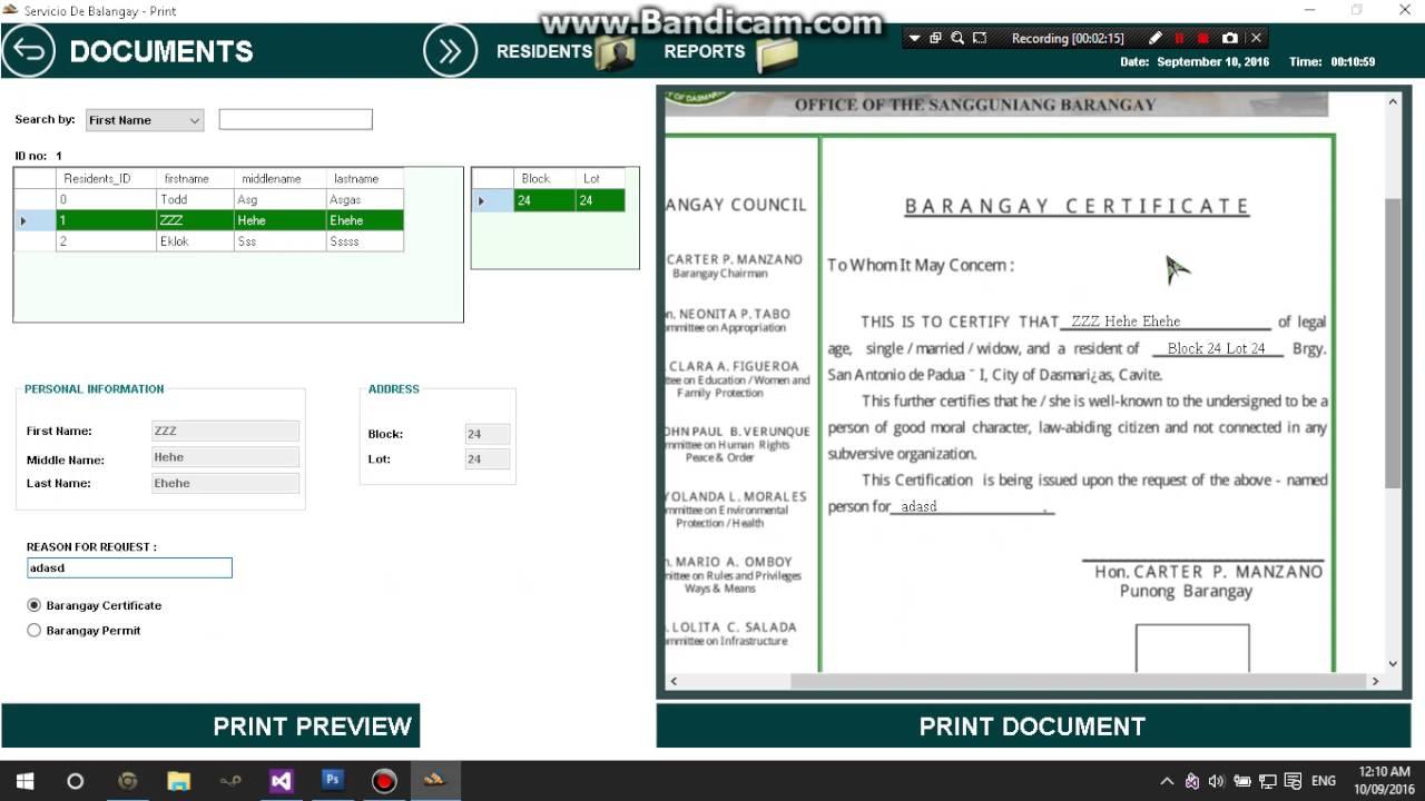 barangay profiling system thesis