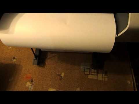Загрузка рулона и выравнивание головок - плоттер Hp
