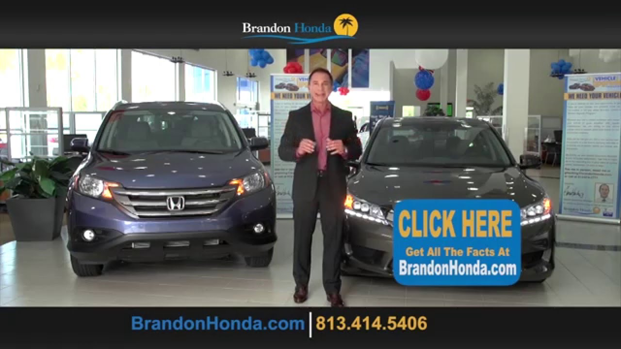 Brandon honda 39 s single best offer youtube for Honda of brandon