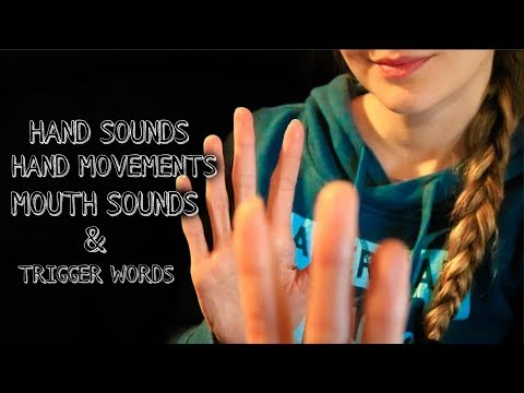 ASMR Hand Sounds, Movements, Trigger Sounds & Words