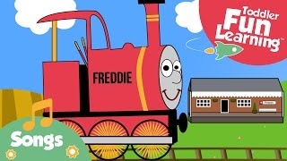 Down At The Station | Train song for toddlers | Toddler Fun Learning