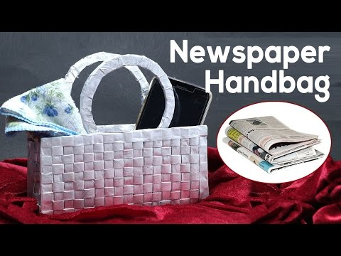 Best Out of Waste Newspaper Craft | How to Make a Handbag, Purse