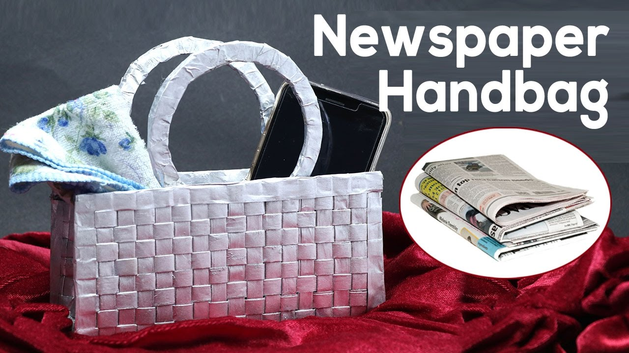 Best out of waste newspaper craft how to make a handbag for Any craft item with waste material