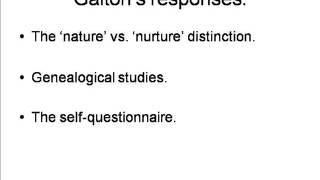Galton and Inherited Individual Characteristics [HPsy 8A: 2]