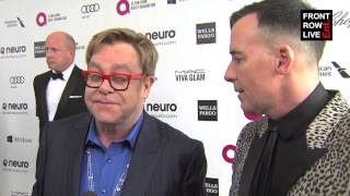 Elton John talks about his AIDS Foundation and his involvement with Ed Sheeran