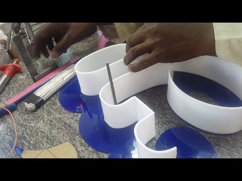 How to make a 3d letter raising
