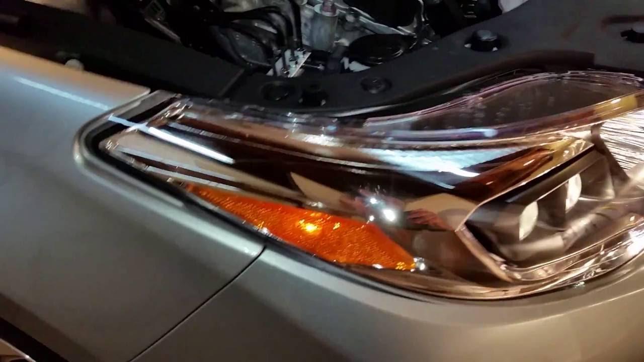 2013 2017 Toyota Avalon Testing Headlights After Changing Low Beam High Beam Light Bulbs