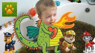 ВАННА с ОРБИЗ Сюрпризы ЩЕНЯЧИЙ ПАТРУЛЬ  Много Игрушек Видео для Детей PAW Patrol Lion boy