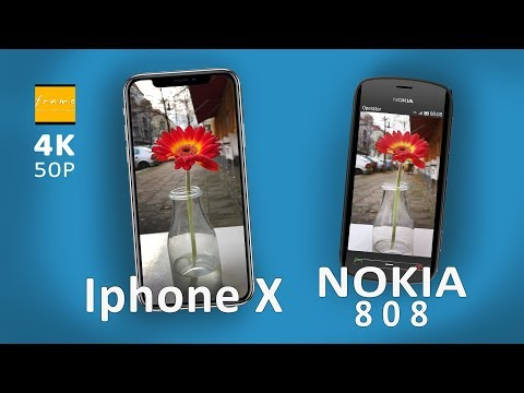 Iphone X vs. NOKIA 808 - Fast CAMERA Check