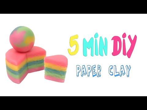 42】DIY Paper Clay Recipe【Clay Tutorial/Lovely4u】