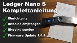 Ledger Nano S Komplettanleitung Deutsch | Einrichtung, Firmware Update, Coins empfangen & senden
