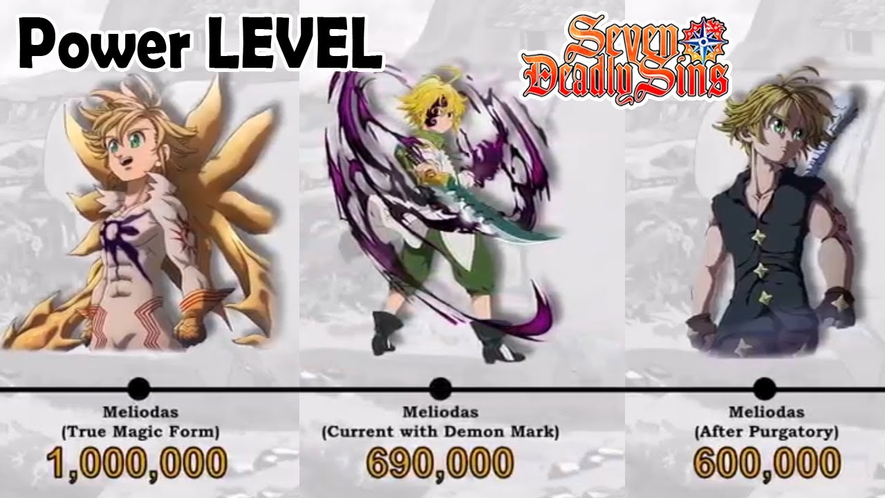 Power Levels Comparison of Seven Deadly Sins, Demon Clan, Goddess Clan
