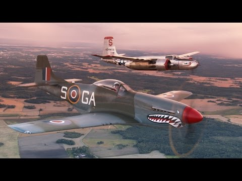 "P-51 Mustang ""The shark"" starring Jan Andersson. Short version."