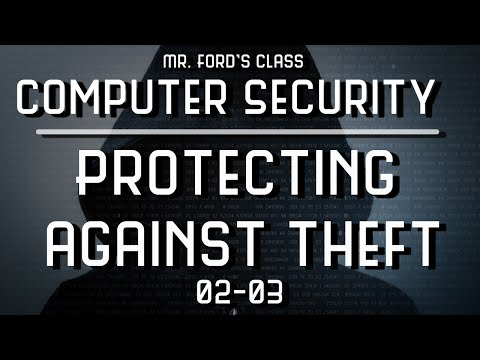 Protecting against Theft: How To Keep Your Computer Safe From The Bad Guys (02:03)