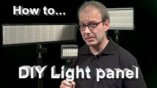 How to...DIY Light Panel Flächenleuchte
