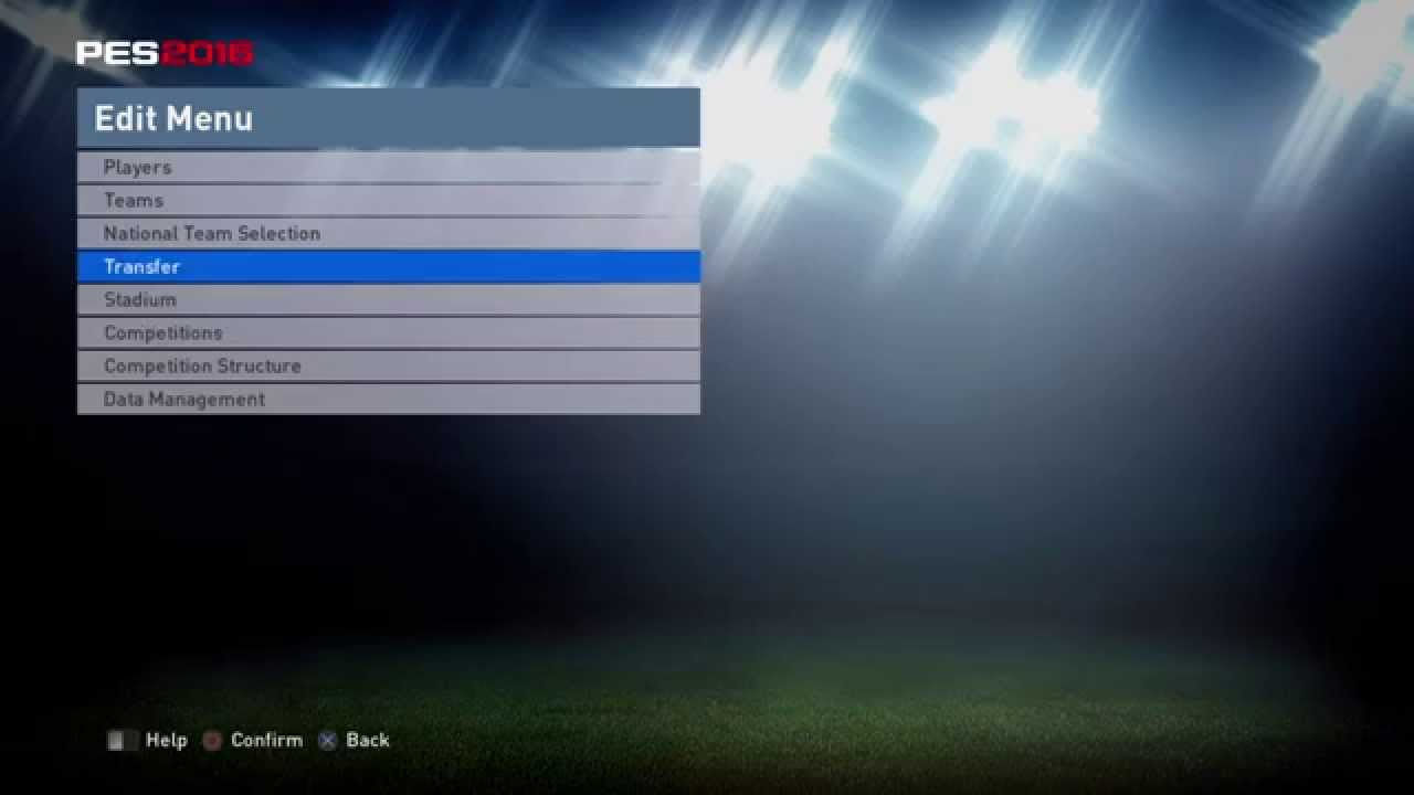 GtViperPES Option Files PES 2016 PS4 - Data Name Competition