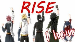 Nightcore - Rise (Switching Vocals/Lyrics/1 Hour)