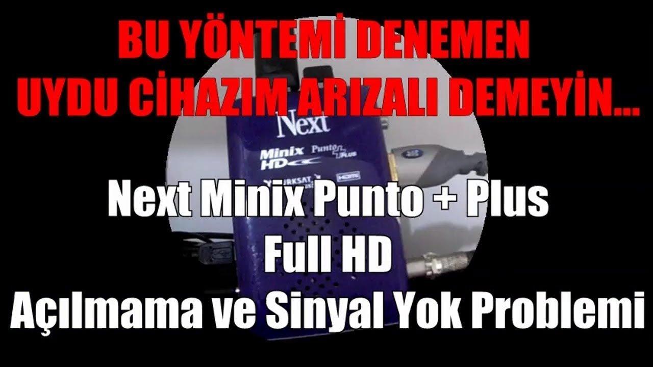 Bu yöntemi de denemeden uydu cihazım arızalı demeyin. Next Minix HD Punto Plus Uydu Alıcı Arızası.