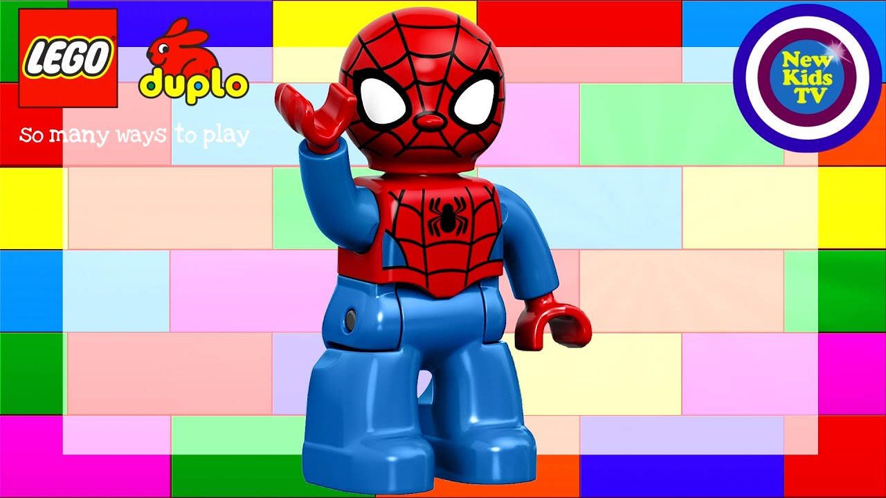 Spiderman Lego Duplo Motorbike Play Set - Kids Video - Review