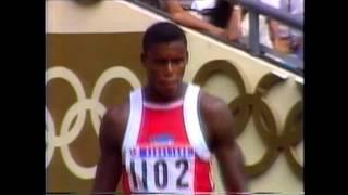 1988 Olympics 100m Semifinal 1, Seoul, South Korea