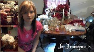 Jar Candle Holders and Flower Arrangements