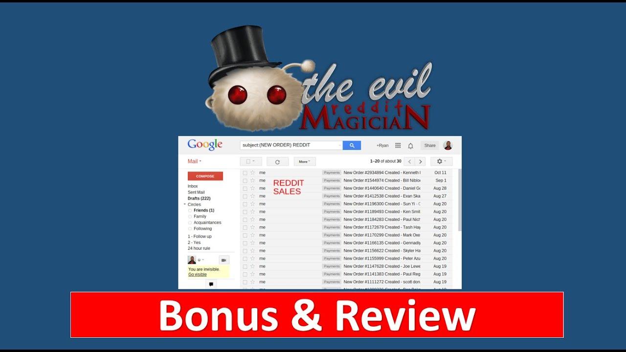 The Evil Reddit Magician Review - $297 Exclusive Bonus - YouTube