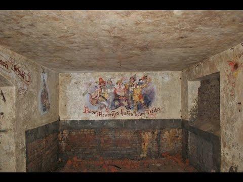 Exploring a WW2 Atlantic wall bunker, AMAZING Nazi art!!! #11