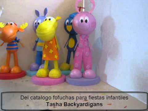 Tasha backyardigans fofucha en foami o goma eva para for Decoracion infantil goma eva