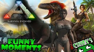Ark Survival Evolved Funny Moments Ep.1 Dino Glitches, Ragdolls, and Death!