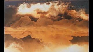 ATOMIC FIREBALL AND MUSHROOM CLOUD 400 METERS AIRDROP FROM SKY UNCUT FOOTAGE
