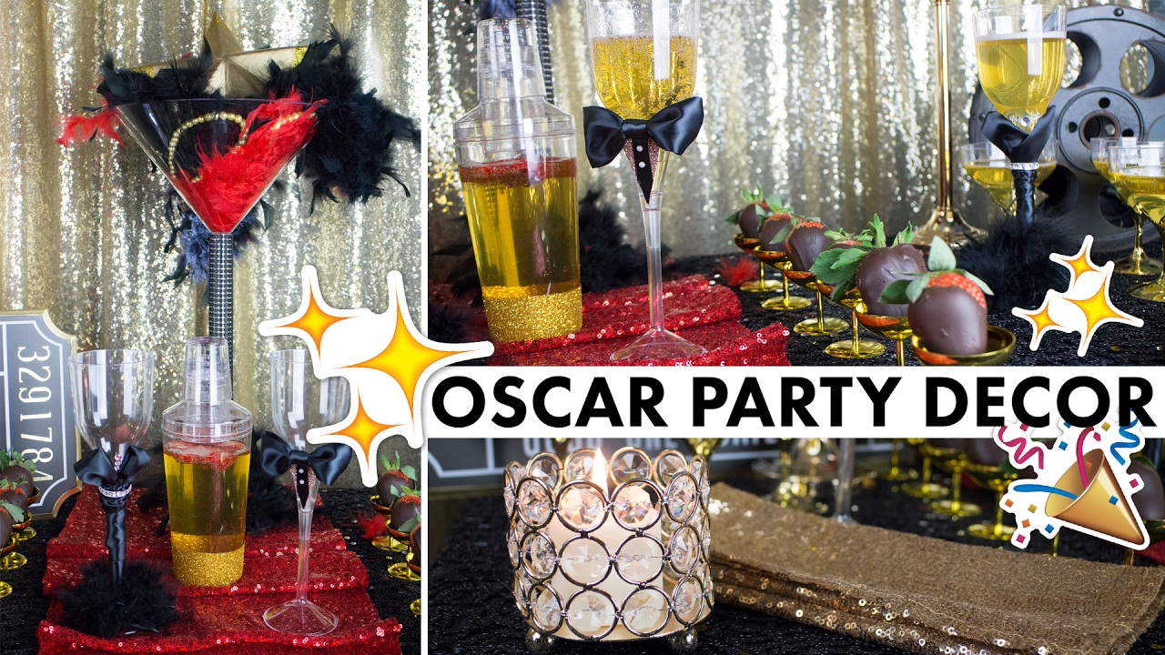 Hollywood party theme oscar centerpiece decorations for Hollywood party dekoration