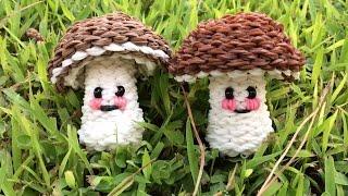Белый гриб 3D из Rainbow Loom(ПРИДУМАНО МНОЙ!!! Понадобится резинок: коричневые - 258 белые - 394 розовые - 2 черные - 1 или 3 шт (либо 2 бусины..., 2015-08-04T20:26:41.000Z)