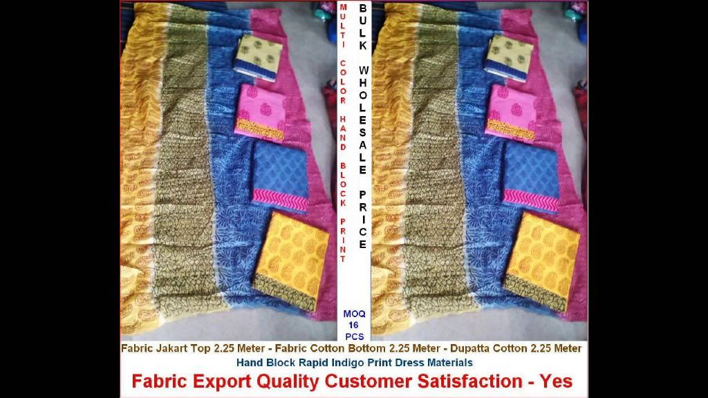 Unstitch Cotton Printed Dress Materials Manufacturers Wholesalers In