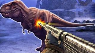 TYRANNOSAURUS REX Vs SHOTGUN - Dino Hunter Deadly Shores