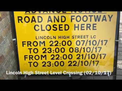*FAULTY ALARM* (1080p60fps) Lincoln High Street Level Crossing (02/10/17)