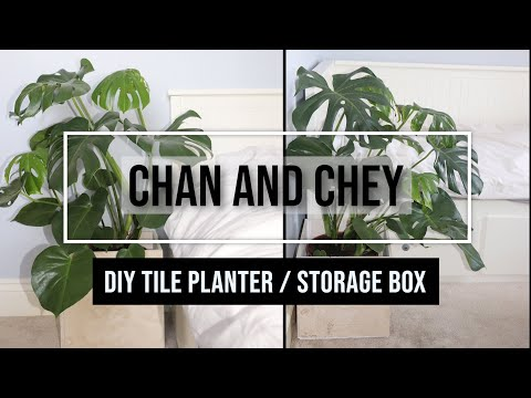 simple-diy-natural-stone-planter-//-storage-box-using-tiles