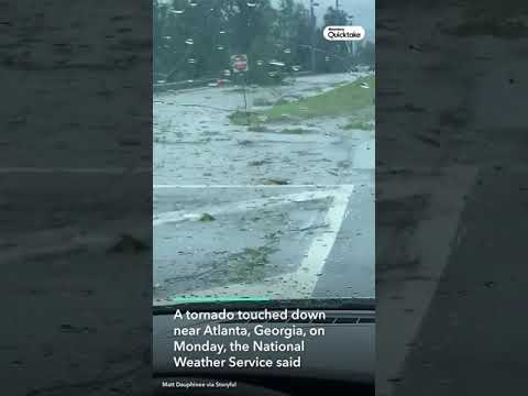 Debris Scattered in Atlanta After Tornado Touches Down #Shorts