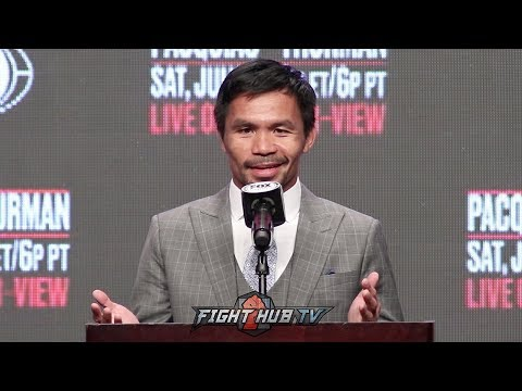 """PACQUIAO TELLS THURMAN TO HIS FACE  """"I HOPE YOU FIGHT ME TOE 2 TOE!"""""""