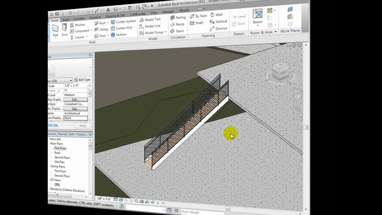 Revit Architecture - Creating Stairs and Ramps