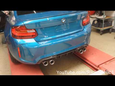 bmw m2 with m performance exhaust cold start youtube. Black Bedroom Furniture Sets. Home Design Ideas